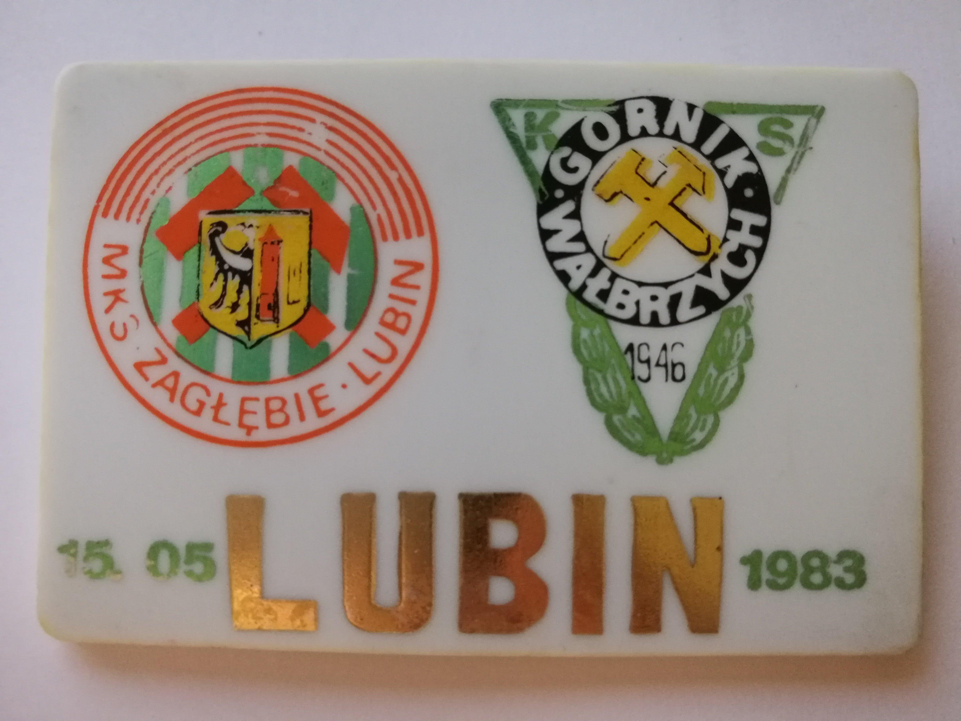 Vpinka Zagłębie Lubin 0-1 Górnik Wałbrzych 15.05.1983